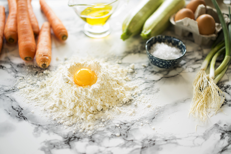 Fırında kabaklı havuçlu peynirli mücver 2