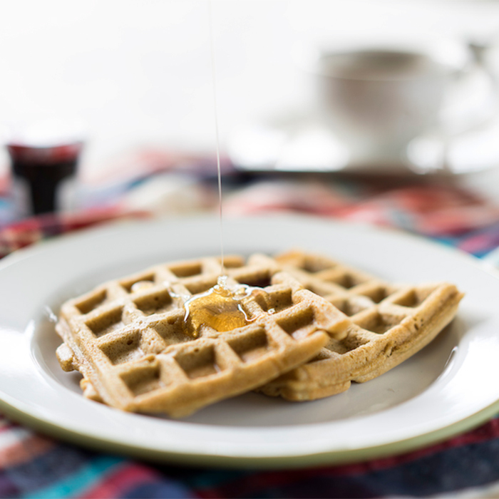 Tam buğday unlu, sütsüz waffle 1