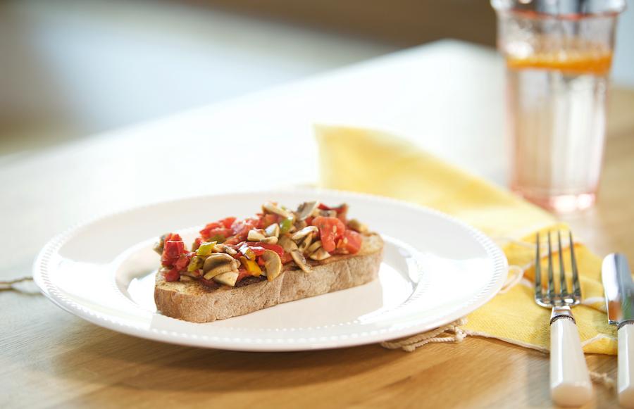 Mantarlı biberli ekmek 1