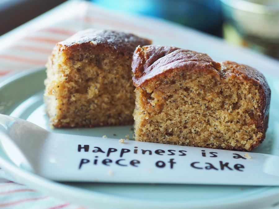 Glutensiz ve sütsüz limonlu haşhaşlı kek 3