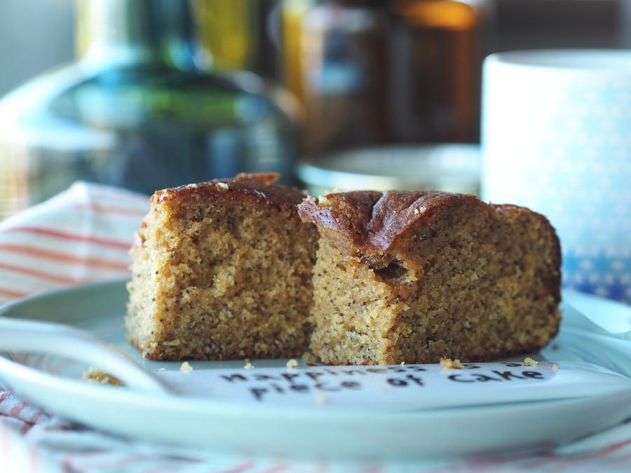 Glutensiz ve sütsüz limonlu haşhaşlı kek 6