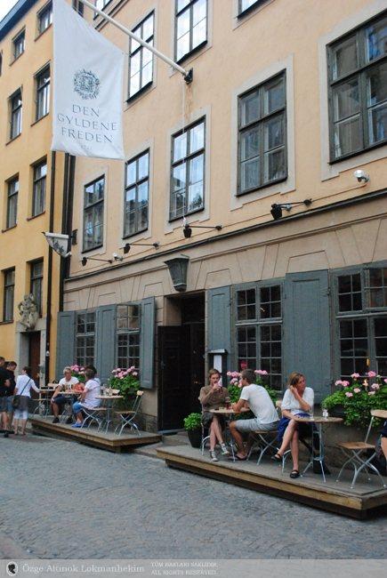 Stokholm'ün en eski tavernası (1722) Den Gyldene Freden 2