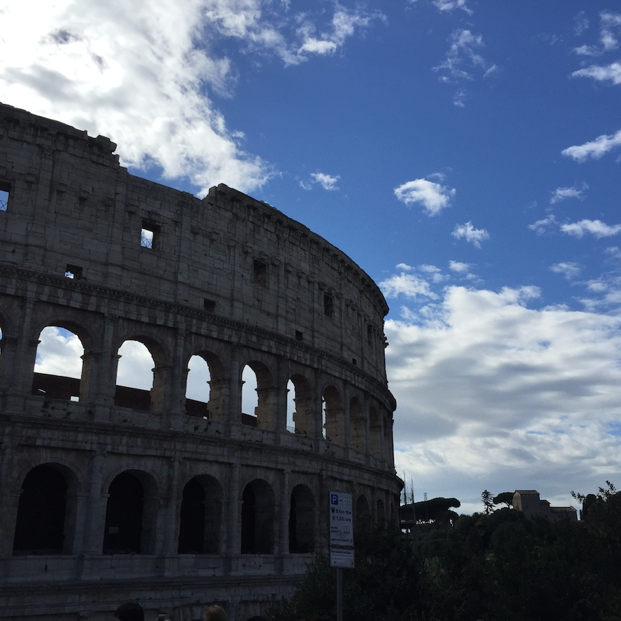 Çocukla Roma tatili Colosseum 2
